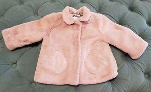 Zara Baby Girl Faux Fur Coat Collar Jacket 3-6months ...