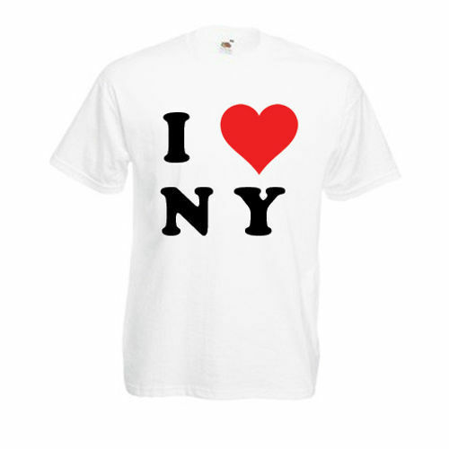 Personalised I Love Ny T-Shirt Mens Ladies Womens Funny Novelty Gift Top