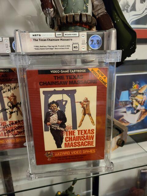 Texas Chainsaw Massacre Atari 2600 Graded Wizard Video Game Wata Graded SEALED