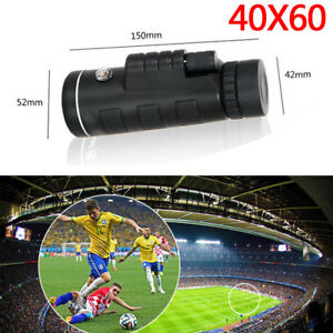 40X60 HD Zoom Optical Monocular Telescope Lens Clip W/ Tripod For IPhone Android