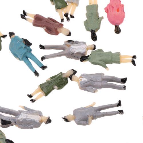 50pcs 1//87 Miniature Human Figures People Model Railroad Scenery Accs HO OO