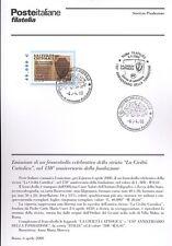 ITALIA 2000 LA CIVILTA' CATTOLICA BOLLETTINO COMPLETO DI FRANCOBOLLI FDC