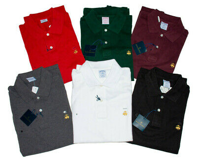 MED Slim Fit NIP Free Ship Red NWT Brooks Brothers 1818 POLO Cardinal