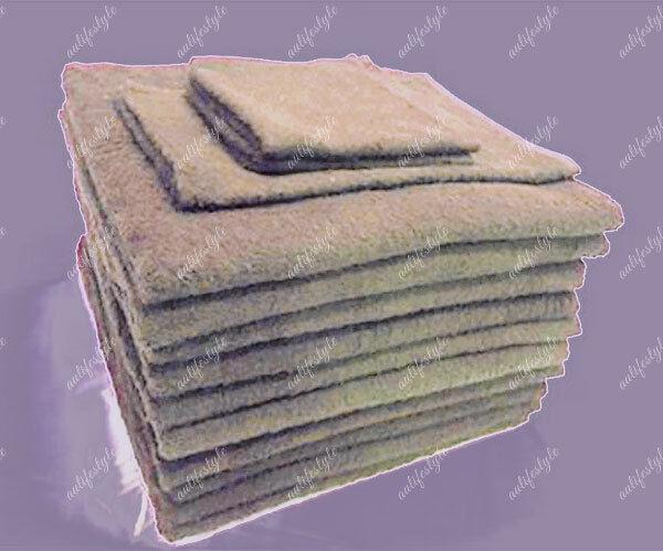 BULK SAVE 10x Bath Towel Cafe Latte 100% Premium Cotton Hotel AirBnb 68x137CM