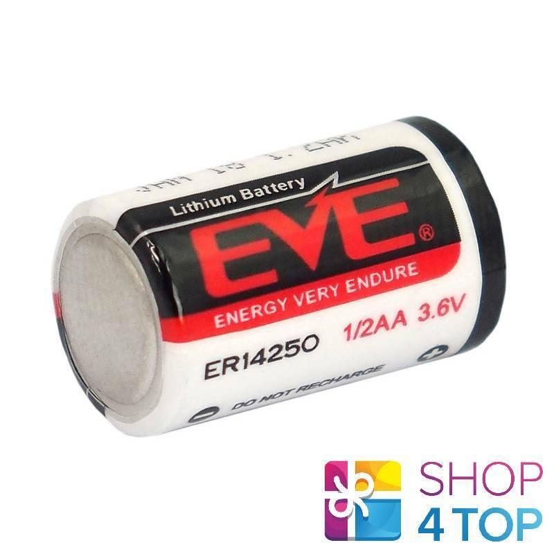EVE ER14250 1/2AA 3.6V Lithium Battery Energy Very Endure Bobbin Cell Size New
