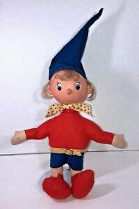 NODDY-Vintage-PEDIGREE-Felt-Cloth-Stuffed-Doll-12-034-Tall-Rubber-Head-Enid-Blyton