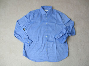 Robert-Graham-Button-Up-Shirt-Adult-Large-Light-Blue-White-Casual-Office-Mens