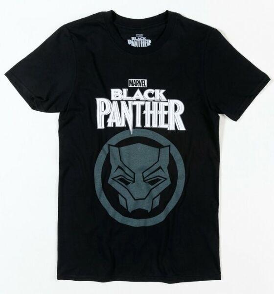 2019 Nuevo Estilo Oficial Marvel Black Panther Negro T-shirt-ver
