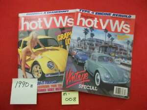 2-VINTAGE-COLLECTIBLE-ISSUES-OF-DUNE-BUGGIES-amp-HOT-VWs-MAGAZINE-1990-VW-BUG