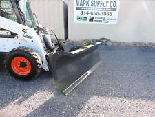 """CID Xtreme Duty 96"""" Snow Plow Power Angle Skid Steer Quick Attach Loader Tractor"""