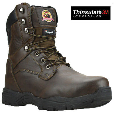 MENS SAFETY STEEL TOE CAP COMBAT MILITARY ARMY WORK ANKLE HIKER BOOT SHOES SIZE