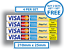 4x Paypal and Card Payments Stickers Visa Credit Card Amex Mcard Vinyl Shop Taxi