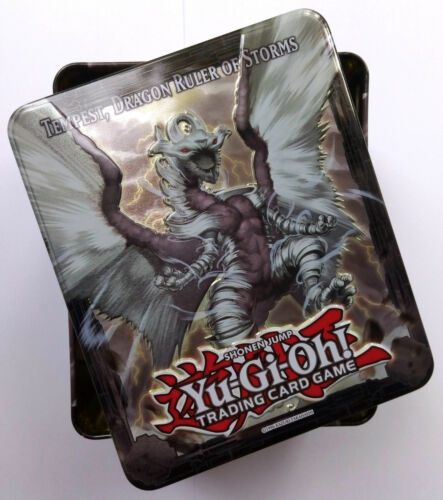 YU GI OH! EMPTY TEMPEST, DRAGON RULER OF STORMS STORAGE TIN NEW