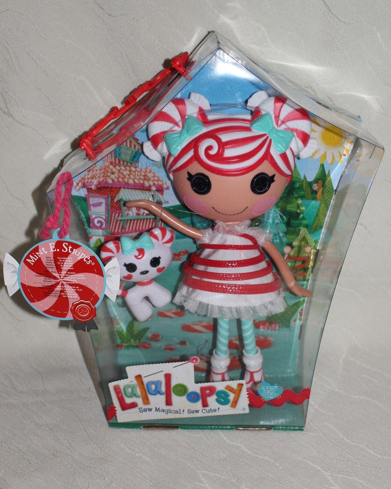 Lalaloopsy Nuovo di zecca E. Stripes Full Size Large RARA BAMBOLA Nuovo di Zecca Lollipop SCATOLA Nuovo di zecca con scatola