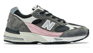 NEW-BALANCE-Made-in-UK-991-Classic-Scarpe-Donna-Sneakers-BLACK-GREY-W991KWG