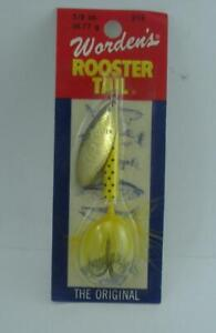 Wordens 214-YLDA Rooster Tail Spinner 3/8 oz. Yellow/Dalmation 25429