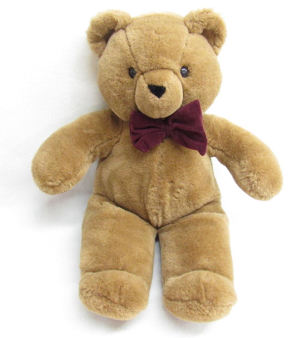 VTG 1992 TL TOYS braun TEDDY BEAR ROT BOW PLUSH