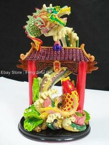 Chinese asian feng shui lucky arowana carp koi dragon fish for Koi fish figurines