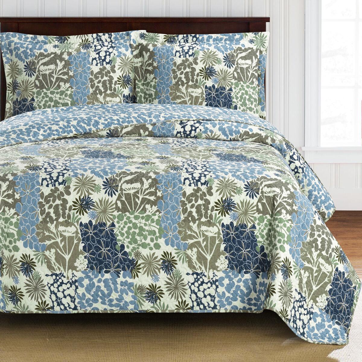 Elena OverGrößed Coverlet Set Luxury Microfiber Printed Quilt Modern Bedspread