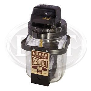 Rover-Jaguar-E-Type-Healey-Lucas-Electric-ScreenJet-Windscreen-2SJ-Glass-Bottle