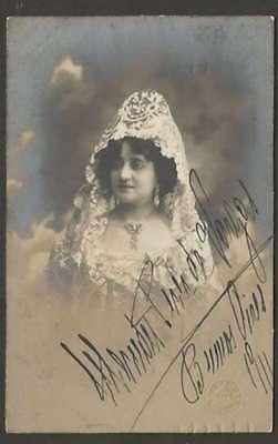 R Photo Mercedes Perez De Vargas Actress Orig Signed 1911 Entertainment Memorabilia Theater