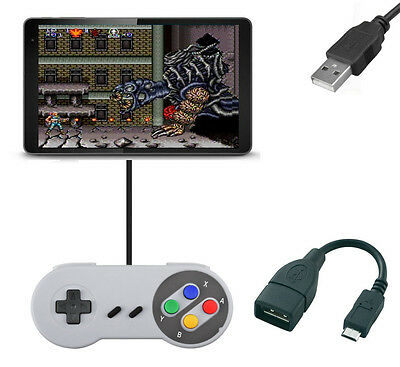 Snes Micro USB Game Pad Joystick Controller For Any Android Tablet Smartphone
