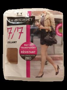 Le Bourget Collant mat et transparent résistant sans démarcation 20D
