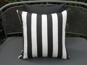 Outdoor-Charcoal-Gray-amp-White-Stripe-Modern-45cm-Cushion-Covers-Au-Made