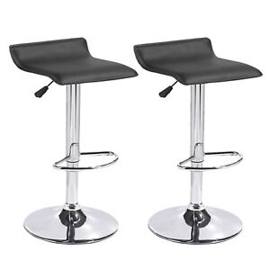 Groovy Details About Set Of 2 Black Counter Height Swivel Seat Chrome Base Bar Stools Dinning Chairs Evergreenethics Interior Chair Design Evergreenethicsorg