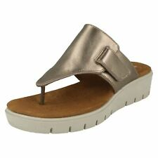 874cf7ed71d36c item 2 LADIES CLARKS UN KARELY SEA UNSTRUCTURED SLIP ON TOE POST LEATHER  SUMMER SANDALS -LADIES CLARKS UN KARELY SEA UNSTRUCTURED SLIP ON TOE POST  LEATHER ...