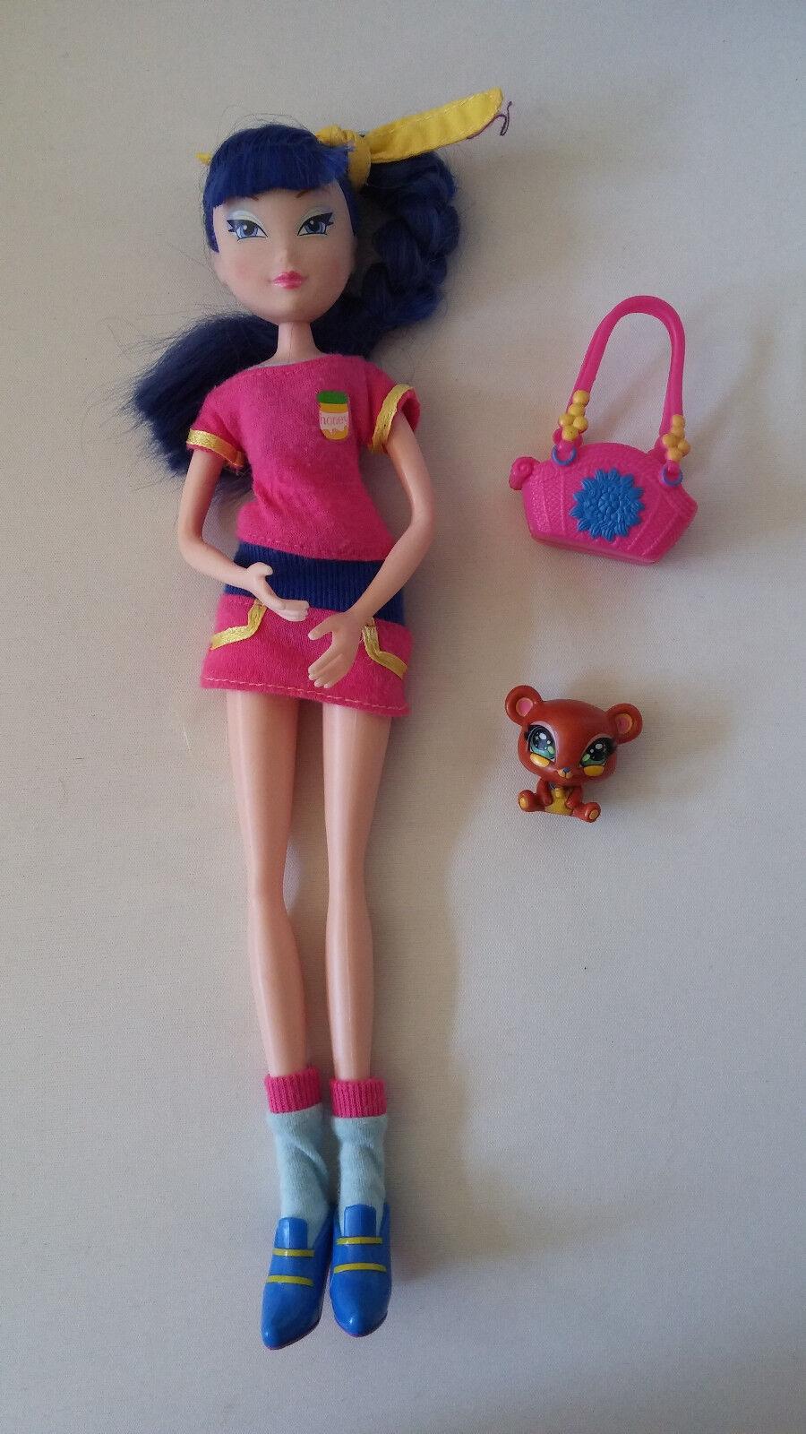 Winx Club Puppe Musa Little Pet Shop Sehr guter Zustand Staffel 4