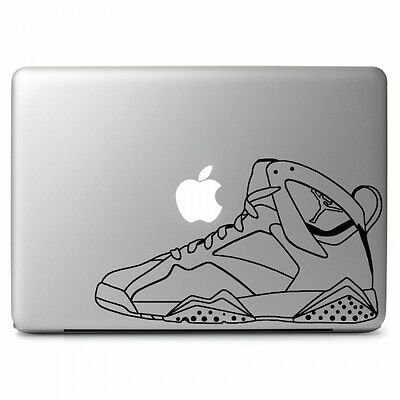 Air Jordan 7 Retro Shoes Vinyl Decal Sticker for Macbook Air/Pro Laptop Dell HP