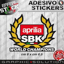 Adesivo / Sticker APRILIA RACING SBK WORLD CHAMPIONS RSV4 1000 SHIVER TUONO SRV