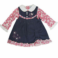 Baby Girls Long Sleeve Winter Dress Outfits Clothing Size 12 18 24 Months