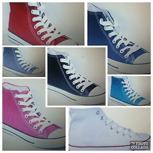 new-women-039-s-laddies-hi-top-flat-grip-canvas-trainers-lace-up-boots