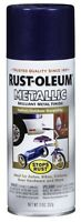 Rust Oleum 7251830 11 Oz. Metallic Stop Rust Spray Paint, Cobalt Blue