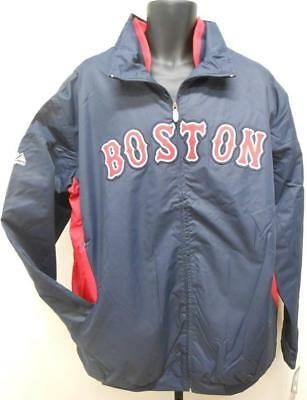 Neu Boston Red Sox Herren 3xl-4xl-5xl-6xl-tall Majestic Therma Base Dugout Jacke QualitäT Zuerst Baseball & Softball Fanartikel