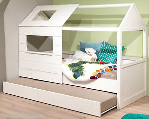 welle lumio massivholz bett mit g stebett spielbett massiv jugendbett holzbett ebay. Black Bedroom Furniture Sets. Home Design Ideas