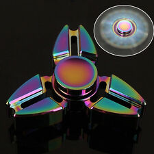 1pc Rainbow Tri Fidget Hand Spinner Triangle  Finger Toy EDC Focus ADHD Autism