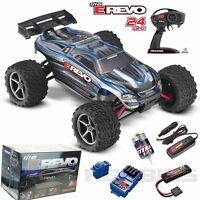 Traxxas 71054-1 E Revo 1/16 4wd Brushed Truck Silver Rtr W/ Tq Radio / Id