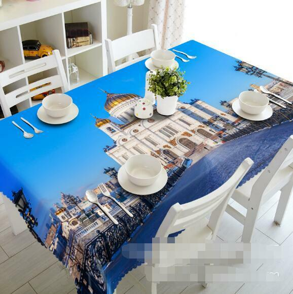 3D Palace 464 Tablecloth Table Cover Cloth Birthday Party Event AJ WALLPAPER AU