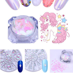 Unicorn-Nail-Sequins-AB-Color-Rhinestone-3D-Nail-Art-Decoration-Flakes-Manicure