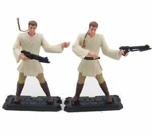 Lot-2x-Star-Wars-1999-Obi-Wan-Kenobi-Episode-1-Jedi-duel-Hasbro-Figure-3-75-034-toy