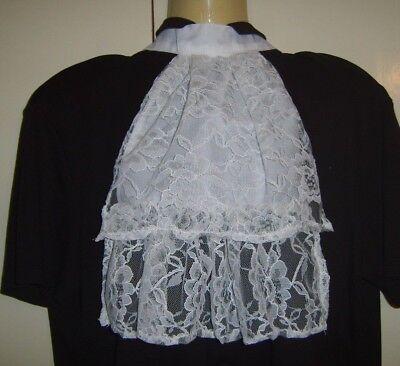 Affidabile Bianco Pizzo Jabot Vittoriana Georgiana Reggenza Colletto Cravatta Costume-mostra Il Titolo Originale Chiaro E Distintivo