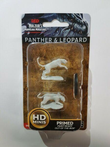 Attivo Panther & Leopardato-d&d - Wizkids Nolzur's Marvelous Miniatures