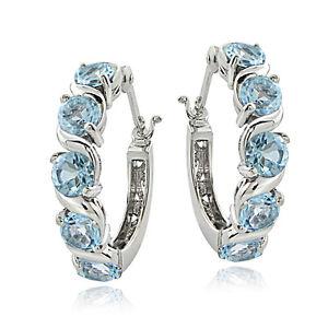 Sterling-Silver-3-00ct-TGW-Blue-Topaz-S-Design-Hoop-Earrings