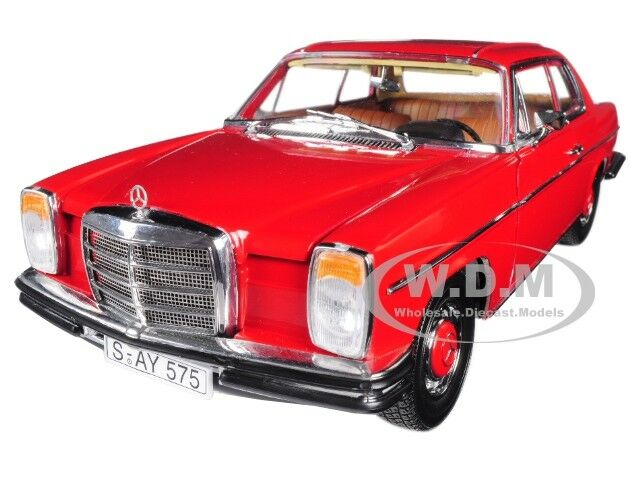 1973 MERCEDES BENZ STRICH 8 COUPE RED  PLATINUM EDITION  1 18 BY SUNSTAR 4575