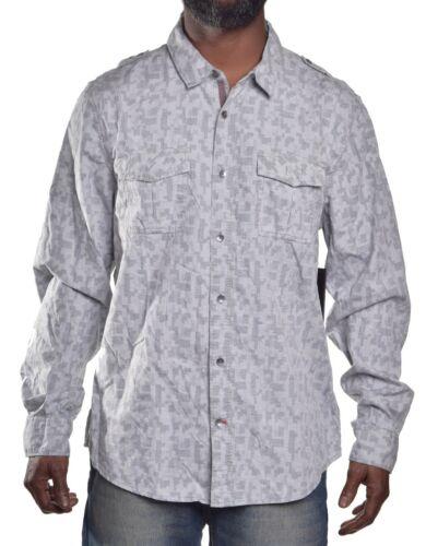 Guess Mens $69 Casual Dillion Slim Fit Button Up Shirt Choose Color /& Size