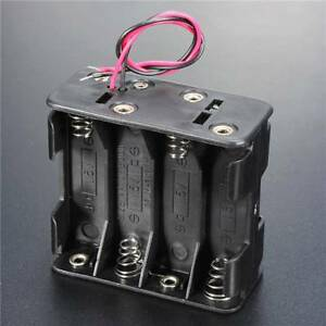 Hot-Selling-12V-Battery-Clip-Slot-Storage-Holder-8pcs-AA-Batteries-Box-Case