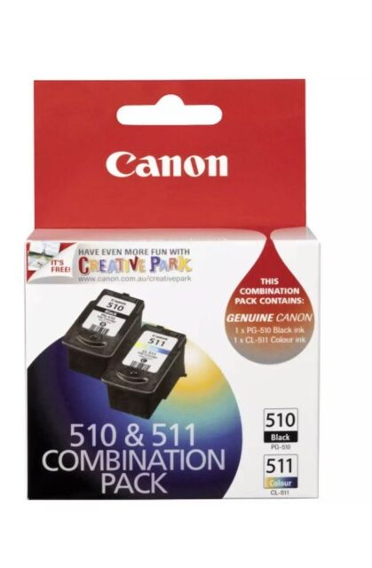 2x Genuine Canon Ink Cartridges PG-510+CL-511 For MP240,MP250,MP270,MP495,MX350